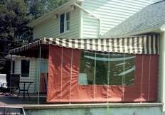 roll up curtain with window