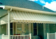 window and porch awnings and roll up curtains